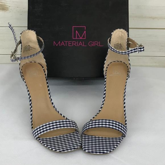 fe48c567b94 Material Girl Blaire Two-Piece Dress Sandals Blue. NWT. Material Girl.  M 5c80204bbaebf6097802c22c. M 5c80204bc2e9fe9b2893a1c7.  M 5c80204ac9bf508cc27234e6